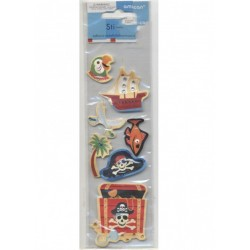 7-stickles-autocollants-de-pirate-coffre-perroquet-bateau