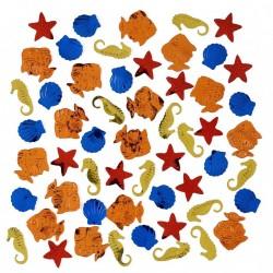 """Confettis à relief métallisées """"Poissons tropicaux"""" 14 gr"""
