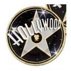 8 petites assiettes HOLLYWOOD Ø 17,8 cm Cinéma Stars