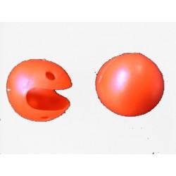 Nez de clown rouge en plastique avec élastique