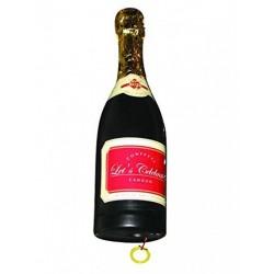 Canon à confettis bouteille de champagne confettis métal or