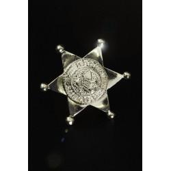 Etoile de shérif en métal argenté