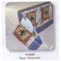 Nappe de cow-boy 137 x 259 cm papier gaufré