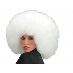 Perruque afro blanche crêpée finement