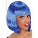 Perruque carré bleu pin-up Cabaret