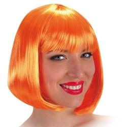 Perruque carré orange pin up Cabaret