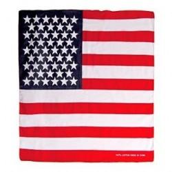 Bandana Foulard carré Drapeau des Etats Unis USA