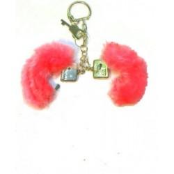 porte-cles-mini-menottes-rouges