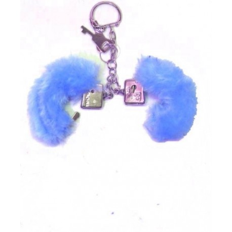 porte-cles-mini-menottes-bleues