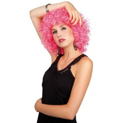 perruque-frise-rose