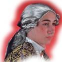 Perruque marquis grise avec catogan cavalier