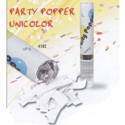 Canon à confettis papier de soie blanc