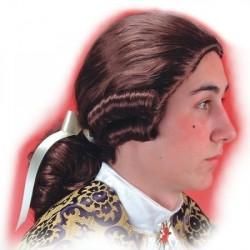 perruque-marquis-brune-avec-catogan-cavalier