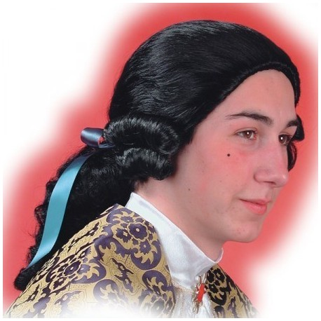 perruque-marquis-noire-avec-catogan-cavalier