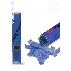 Canon à confettis en papier de soie bleu