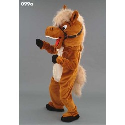 Mascotte cheval grosse tête peluche