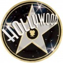 "8 assiettes ""Hollywood star"" noires or et argent 26.7cm"