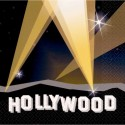 16 serviettes Hollywood Luncheon napkins