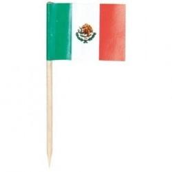 144 petits drapeaux cure-dents Mexique