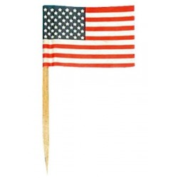 144 petits drapeaux cure-dents Etats Unis USA