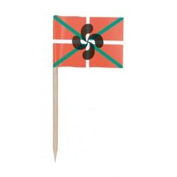 144 petits drapeaux cure-dents basques