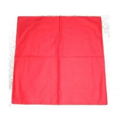 Bandana rouge uni tout rouge foulard carré 100 % coton 55 x 55 centimètres