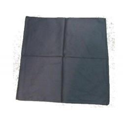 Bandana de couleur noire foulard carré 100 % coton