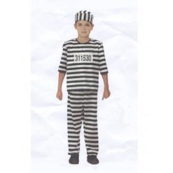 Costume de prisonnier enfant taille 4/6 ans