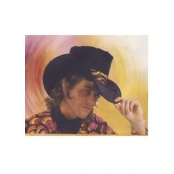 Chapeau de cow-boy Haut-de-forme noir de 17 cm