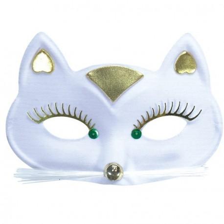 loup-chat-blanc-et-or-avec-grands-cils