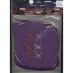 Toile d'araignée violette 100 gr avec 6 araignées