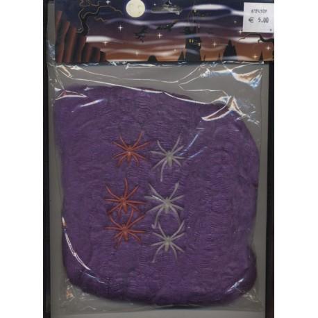 toile-d-araignee-violette-100-gr-avec-6-araignees