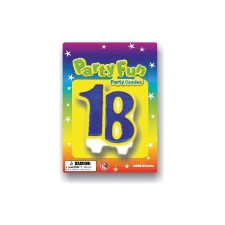 bougie-18-ans-bleu-et-jaune