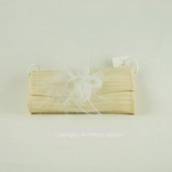 pochette sac naturel et blanc genevieve