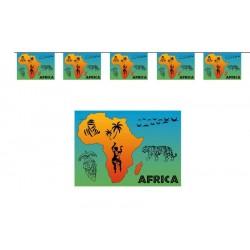 Guirlande Afrique 10 fanions 5m en plastique