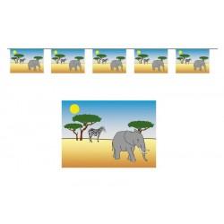 Guirlande Safari 10 fanions 5m en plastique
