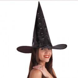 Chapeau de sorcier / sorcière vinyle noir