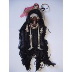 porte-cles-squelette-pirate-cape-noire-foulard-rouge