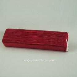 Pochette rouge satin plissée