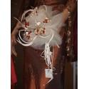 Bouquet rond ivoire et rouge bouquet de la mariée