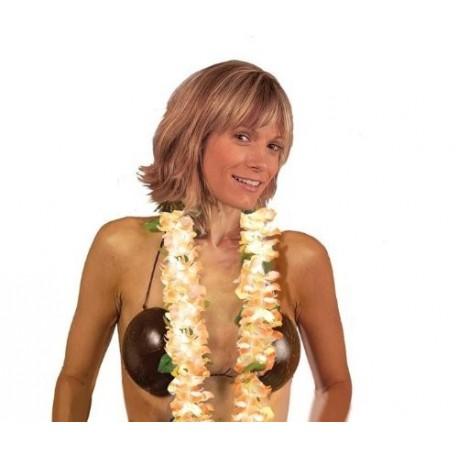 collier-hawaien-luxe-petites-fleurs-orange-fluo