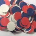 Confettis de scène bleu blanc rouge 100 grammes tricolore