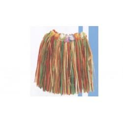 Jupe hawaïenne multicolore Franges plastiques agrémentée de peti