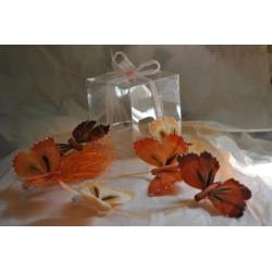 boite-de-6-papillons-ton-roux-rouille-peche-plumes-naturelles