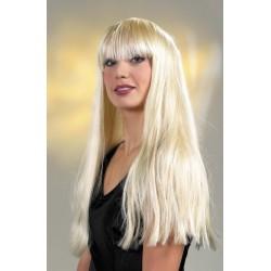 Perruque Carla blonde longue avec frange