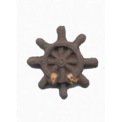 1-gouvernail-marron-et-orange-en-resine-28-cm
