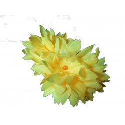 Elastique orné de fleurs jaunes Chouchou fleuri