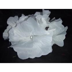 Elastique orné de fleurs blanches