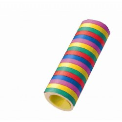 6 rouleaux de Serpentins couleurs assorties 6 m
