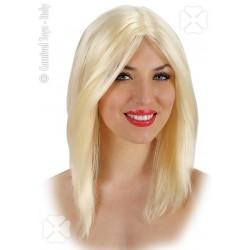 Perruque blonde Cheveux raides dégradés